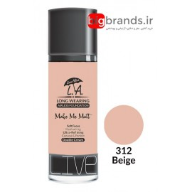 Live Alive l.a double cream oil free کرم پودر ال ای 312