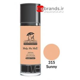 Live Alive l.a double cream oil free کرم پودر ال ای 315