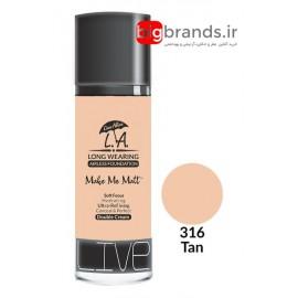 Live Alive l.a double cream oil free کرم پودر ال ای 316