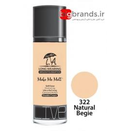 Live Alive l.a double cream oil free کرم پودر ال ای 322