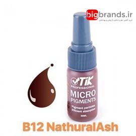 تیک رنگ میکرو پیگمنت قهوه ای دودی B12